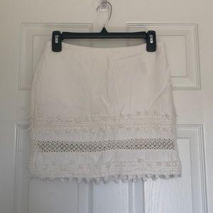 H&M mini white skirt